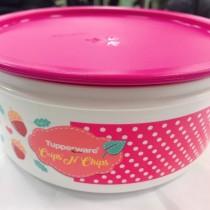 特百惠紅色圓罐盒